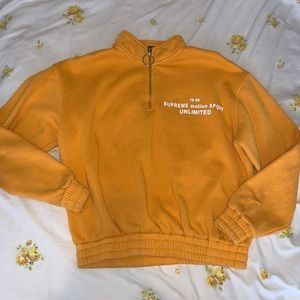 Forever 21 yellow half zip jacket